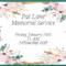 Memorial Service for Pat Lane